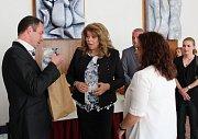 VZÁCNÁ NÁVŠTĚVA. Bulharská viceprezidentka Ilijana Iotova si nenechala ujít návštěvu poutního Velehradu.
