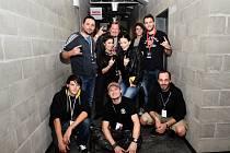 Členové kapely Free Fall po koncertě s Tarjou.