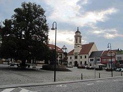 Masarykovo náměstí v Uherském Brodě. Ilustrační foto.