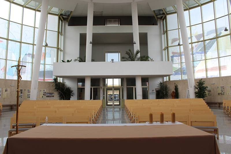 Kostel Svatého Ducha ve Starém Městě v květnu 2021. Interiér.