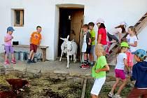 Dvacet malých táborníků si v předposledním červencovém týdnu na táboře v Parku Rochus v Uherském Hradišti vyzkoušelo práci s keramickou hlínou i ruční výrobu cihel, poznali také, co obnáší starost o hospodářství.