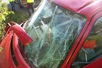 Čtyři zraněné si vyžádala pondělní nehoda mezi Boršicemi u Blatnice a Blatničkou. Na vině byl mikrospánek jednadvacetiletého řidiče stříbrné octavie. Ten zraněn nebyl, všichni zranění cestovali ve vW Transporter, do kterého narazil.