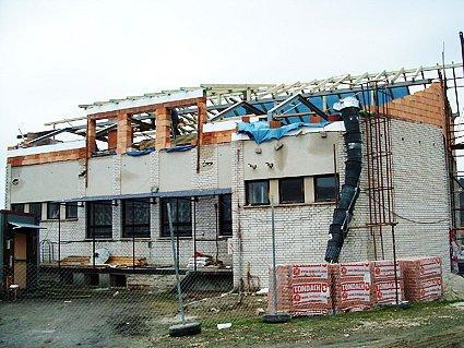 Rekonstrukce kulturního domu v Pašovicích je v plném proudu.