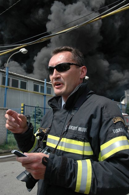 Mluvčí HZS ZK Ivo Mitáček.
