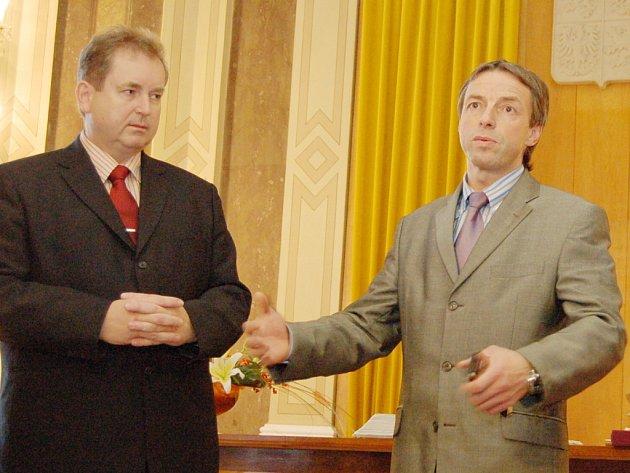 Pražský primátor Pavel Bém navštívil Uherské Hradiště.