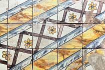 Nově zrestaurovaná a vystavená italská mozaika na státním zámku v Buchlovicích.