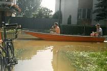 Povodeň v červenci 1997 v Kostelanech nad Moravou.