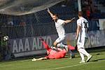 HET liga 1. kolo: 1. FC Slovácko - FK Jablonec. Na snímku se po gólu na 1:0 raduje Tomáš Zajíc