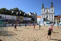 Sportovně kulturní festival Slovácké léto. Plážová házená. Ilustrační foto