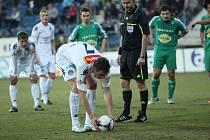 Libor Došek na penaltě.