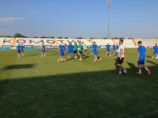 Fotbalisté Slovácka se vbulharském Plovdivu chystají na první zápas druhého předkola Evropské konferenční ligy.