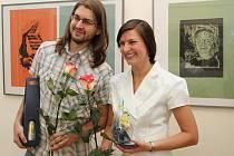 Manželé Horákovi zapózovali fotografům i návštěvníkům vernisáže.