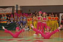 Divákům do rytmu hudby zacvičly týmy z Hodonína, Kyjova, Ostrožské Nové Vsi, Uherského Ostrohu, Otrokovic nebo z Veselí nad Moravou.