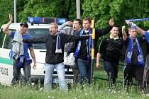 Fanoušci Sigmy a policejní dohled v Uherském Hradišti