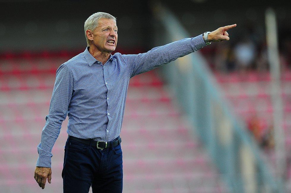 Fotbalové utkání Fortuna ligy mezi celky AC Sparta Praha  a 1. FC Slovácko 5. srpna v Praze. Zdeněk Ščasný.