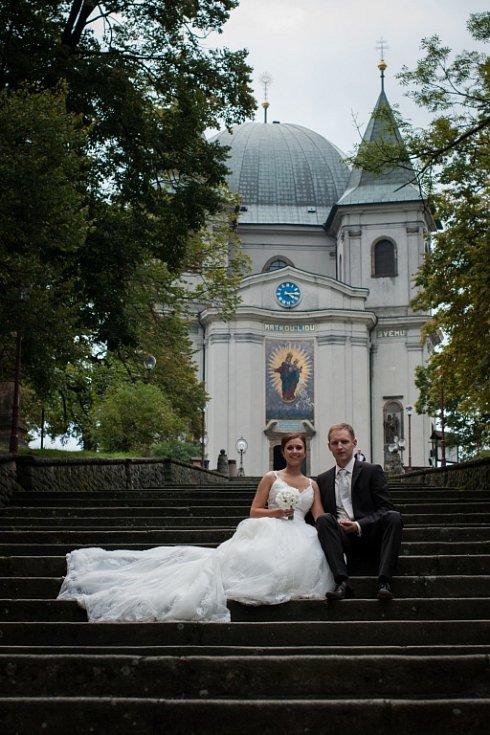 Soutěžní svatební pár číslo 267 - Šárka a Jiří Škařupovi, Hranice .