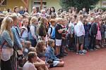 Zahájení školního roku v ZŠ Sportovní v Uherském Hradišti.
