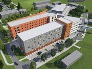Vizualizace naznačuje podobu budoucí interny, která vyroste v blízkosti současného centrálního objektu Uherskohradišťské nemocnice.