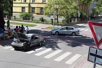 Nehoda se stala na křižovatce ulic Jiřího z Poděbrad a Svatováclavská v Uherském Hradišti.