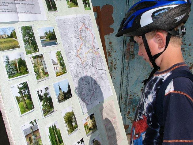 Za poznáním památek regionu se vydali i malí cyklisté.