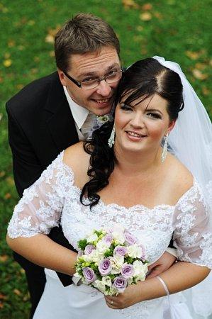 Soutěžní svatební pár číslo 47 - Ľubica a Radim Šotkovští, Chropyně.