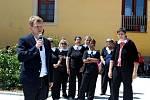 V areálu velehradského Vincentina byla slavnostně otevřena přístupová komunikace k historickému centru poutní obce.