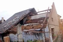 Následky noční bouřky 10. srpna 2017 v Morkovicích
