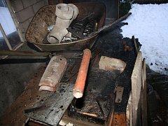 Hasiči vyjížděli ve středu 4. února ráno k požáru kůlny na Břestku.