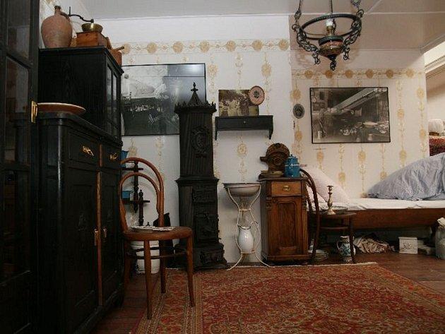 Ukázka výstavy o Františku Kretzovi.