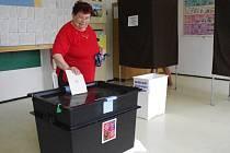 Jen pozvolna přicházeli první voliči v pátek 23. května těsně po 14. hodině k volbám do europarlamentu v téměř třítisícovém Dolním Němčí. Během první hodiny jich do dvou volebních místností v budově tamní Základní a umělecké školy přišla sotva desítka.