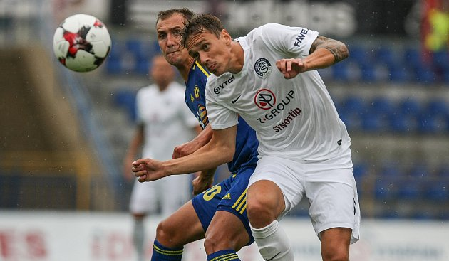 Druhý zápas první fotbalové ligy mezi FC Vysočina Jihlava a 1. FC Slovácko.