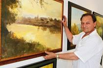 Až do 18. července budou v Galerii Elektry v Luhačovicích k vidění obrazy Františka Kubiny z Velehradu.