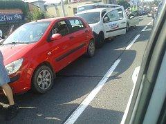 Dopravu ve Zlíně ochromily dvě dopravní nehody