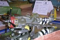 Plastikové modely letadel, vrtulníků či vojenské techniky byli k vidění na 13. ročníku vánoční ceny.