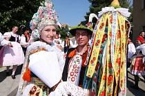 Soutěžní pár číslo 23- Zuzana Kapustová a Jiří Páč  Ostrožská Lhota, starší stárci na hodech 26.-28. července
