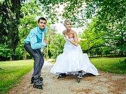 Soutěžní svatební pár číslo 124 - Zuzana a Dalibor Kubíčkovi, Skržice.
