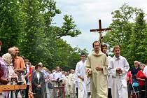 Hlavní mši celebroval spirituál Arcibiskupského gymnázia v Kroměříži Pavel Stuška.