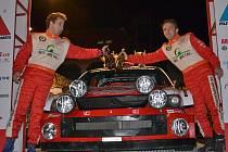 Antonín Tlusťák s Janem Škaloudem se stali vítězi uherskobrodské Rally Show