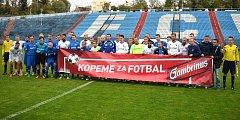 Fotbalisté Babic se v rámci projektu Kopeme za fotbal představili na ostravských Bazalech proti Baníku Ostrava.