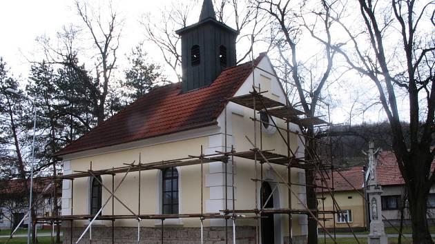 Veletinská kaplička se dočká nové fasády.