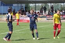 Osmnáctiletý fotbalista Martin Řehola (na snímku) třemi brankami rozhodl divoký nedělní zápas 1. kola MSFL mezi Slováckem B a Kroměříží.