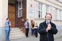 Nové prostory. Část Základní umělecké školy v Uherském Hradišti v pondělí 10. listopadu symbolicky zahájila vyučování v dočasném azylu na Tyršově nábřeží.