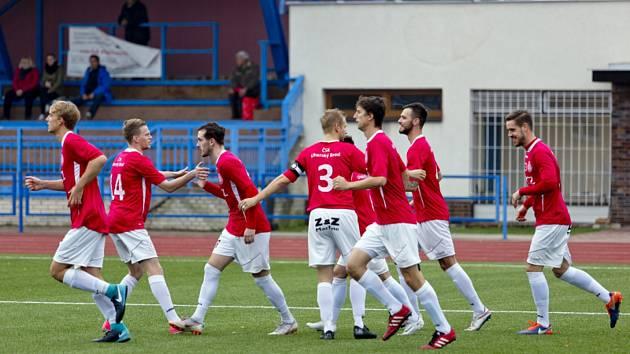 Fotbalistům Uherského Brodu se proti soupeřům ze Slovenska střelecky i výsledkově daří.
