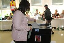 Ve Vesnici roku 2018, v Dolním Němčí, odvolilo po dvou hodinách 10 procent voličů.