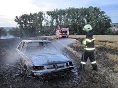 Požár u Dolního Němčí