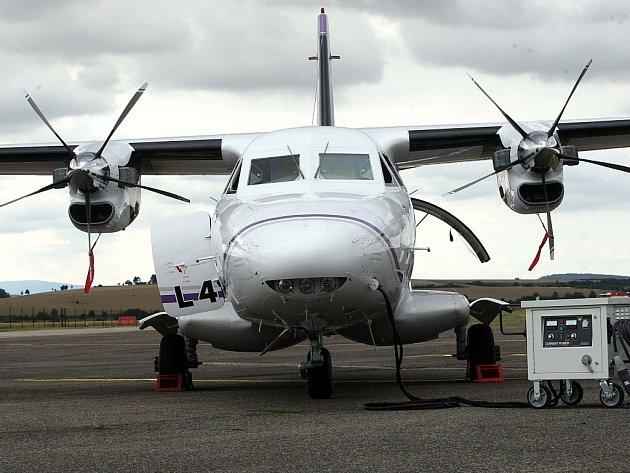 Letadlo L 410 NG firmy LET Aircraft Industries na letišti v Kunovicích.