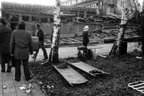 Zřícení budovy v podniku MESIT v Uherském Hradišti 23. 11. 1984.