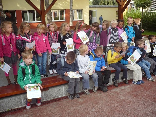 Prvňáčci z 1. C Sportovní školy v Uherském Hradišti.