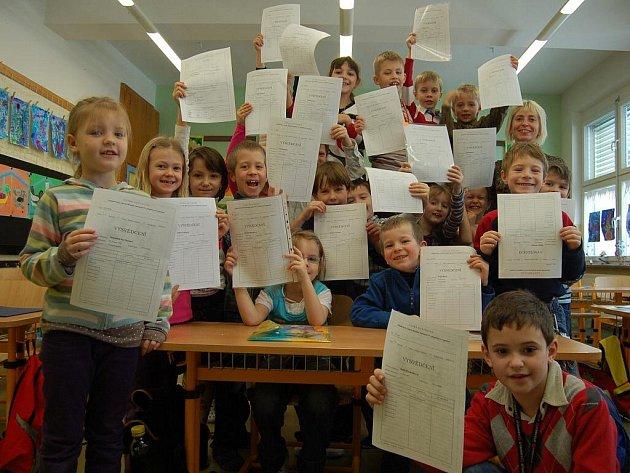 Žáci z 1. A Sportovní školy v Uh. Hradišti si nesli domů samé jedničky.