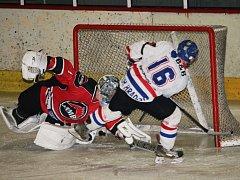 Hokejisté Uherského Hradiště v utkání krajské ligy podlehli Boskovicím 4:9.